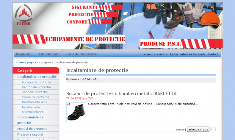 Magazinul Online echipamenteprotectieonline.ro