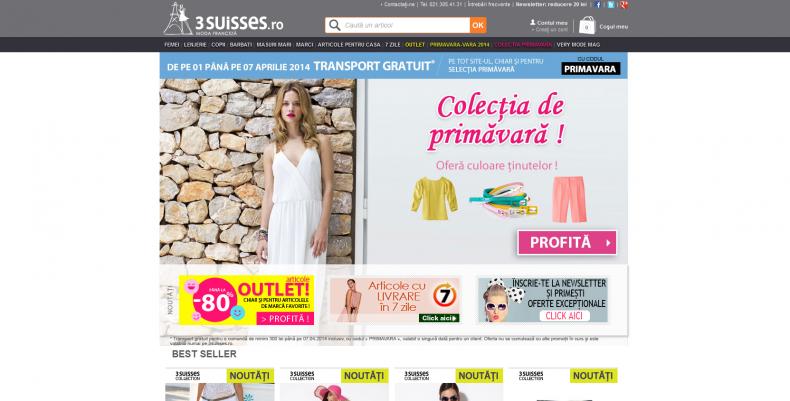 Magazinul Online 3suisses.ro