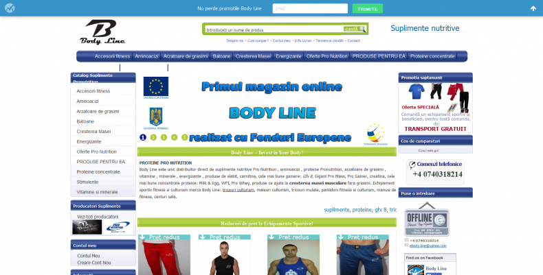 Magazinul Online bodylinemall.ro