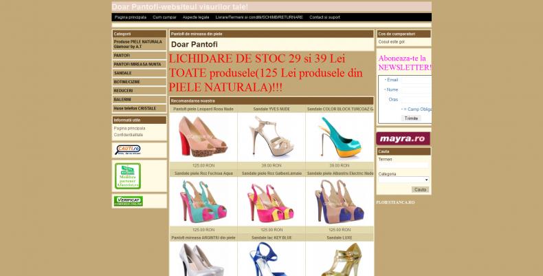 Magazinul Online doarpantofi.com