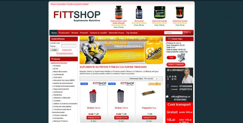 Magazinul Online fittshop.ro