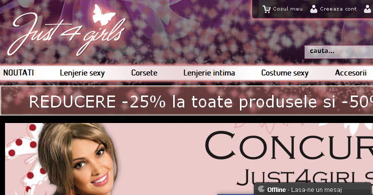 Magazinul Online just4girls.ro