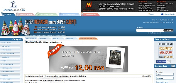 Magazinul Online librariaonline.ro