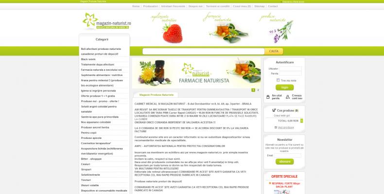 Magazinul Online magazin-naturist.ro