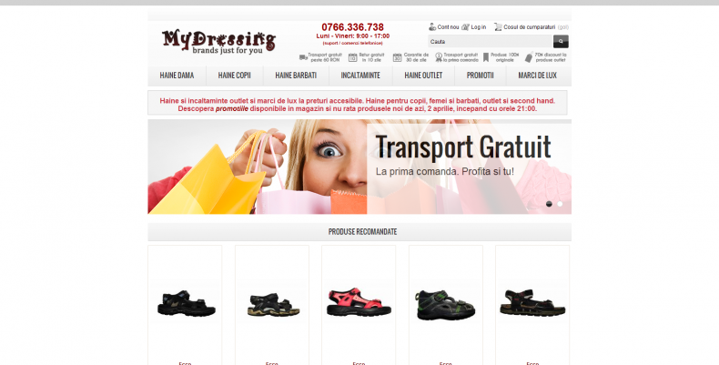 Magazinul Online mydressing.ro