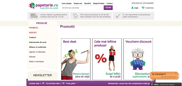 Magazinul Online papetarie.ro