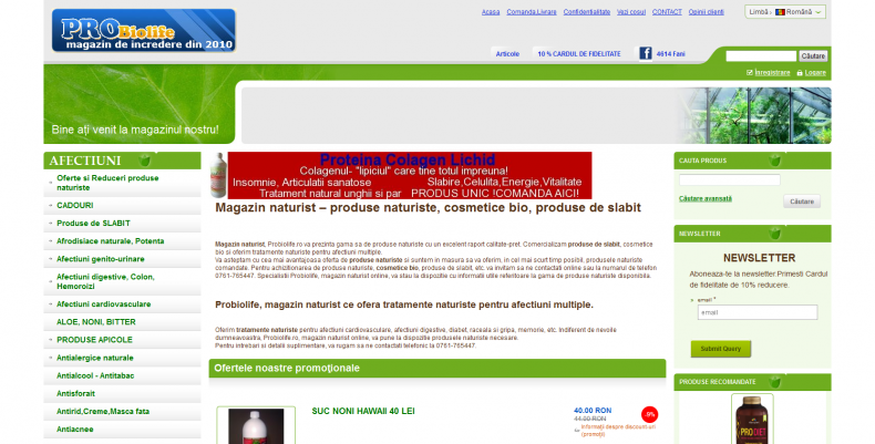 Magazinul Online probiolife.ro