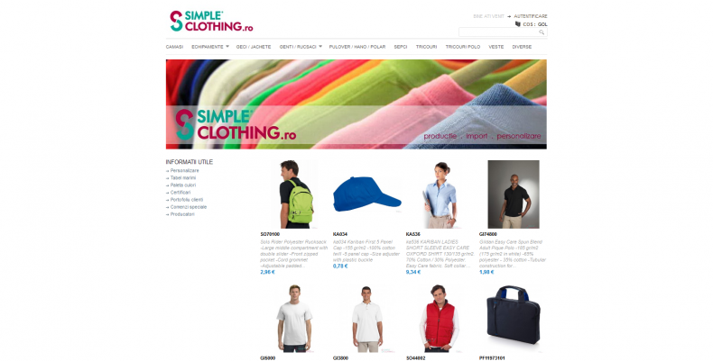Magazinul Online simpleclothing.ro