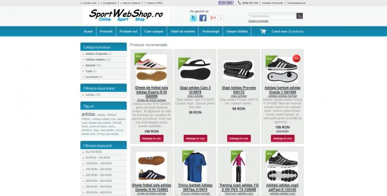 Magazinul Online sportwebshop.ro