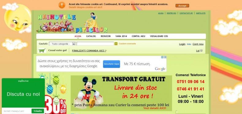 Magazinul online hainutelepiticilor.ro