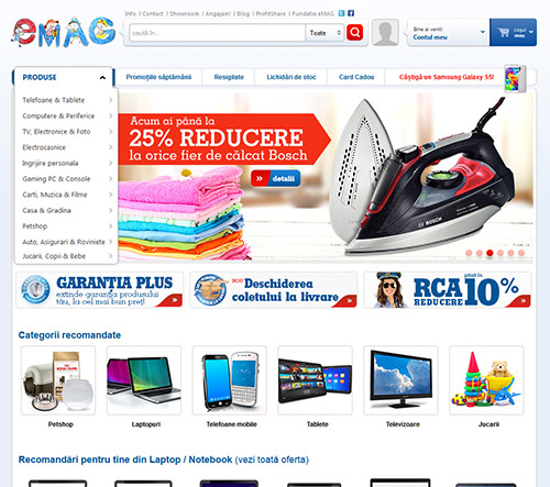 Magazinul online emag.ro